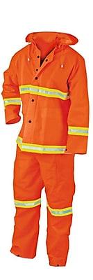 River City® 2013R 3-Piece Rainsuit, Fluorescent Orange, Large