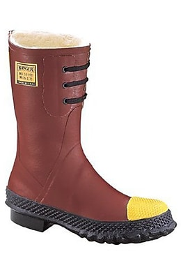Norcross Safety 6147 Insulated Steel Toe Boots, Red, Size 13