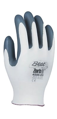 Showa Best Glove® Zorb-IT® 4550 Nitrile Gloves, Size Group 10