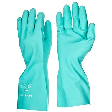 Showa Best Glove® Nitri-Solve® 730 Flock-Lined Nitrile Gloves, Size Group 8