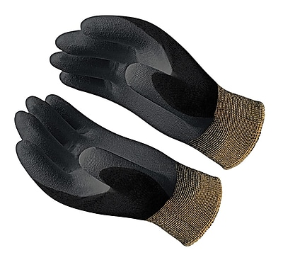 Showa Best® Glove BO500B Hi-Tech Black Polyurethane Coated Gloves, Small