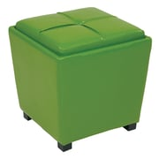 Office Star OSP Designs Vinyl 2 Piece Ottoman Set, Green