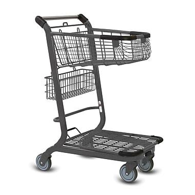 EXpress3500 Convenience Shopping Cart, Metallic Gray