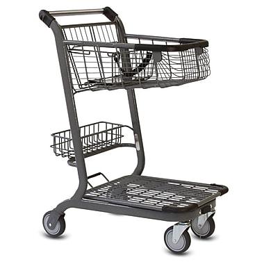 EXpress3500 Convenience Shopping Cart w/ Child Seat, Metallic Gray