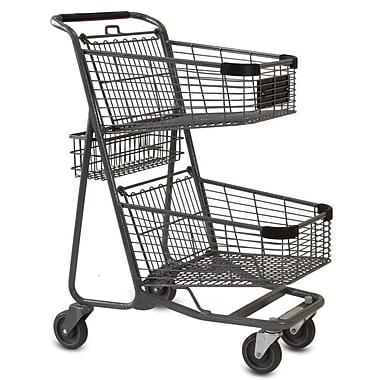 EXpress5050 Convenience Shopping Cart, Metallic Gray