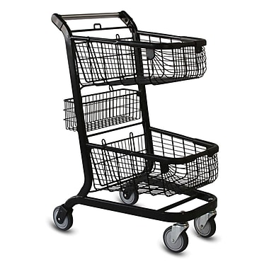EXpress6000 Convenience Shopping Cart w/ Child Seat, Black