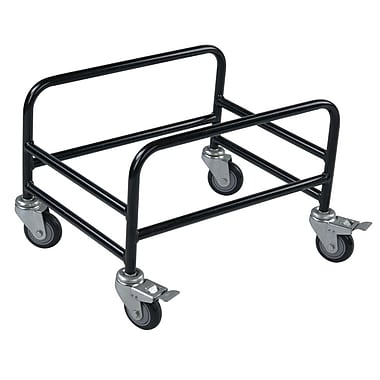 Rolling Basket Stand, For Hand Baskets, 28 Liter, Black