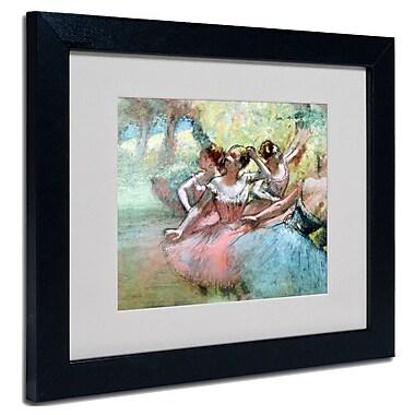Trademark Fine Art Edgar Degas 'Four Ballerinas on the Stage' Matted Framed Art