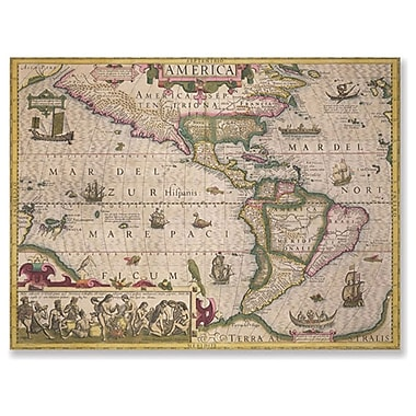 Trademark Fine Art Jodocus Hondius 'Map of America 1606' Canvas Art