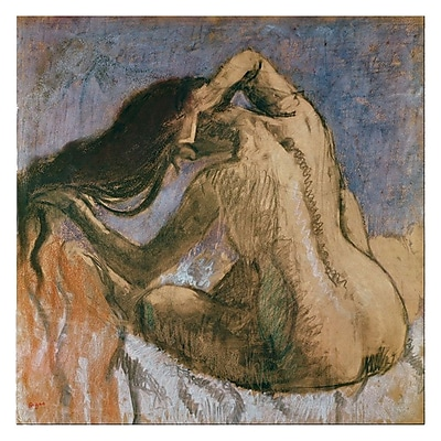 Trademark Fine Art Paul Cezanne 'Woman Combing her Hair' Canvas Art 14x14 Inches