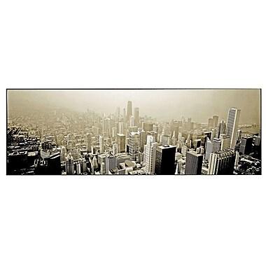 Trademark Fine Art Preston 'Chicago Skyline' Canvas Art 12x32 Inches