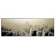 Trademark Fine Art Preston 'Chicago Skyline' Canvas Art 12 x 32 Inches