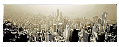Trademark Fine Art Preston 'Chicago Skyline' Canvas Art 12x32 Inches