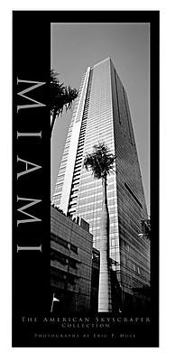 Trademark Fine Art Miami by Preston-Ready to Hang Art 14x32 Inches