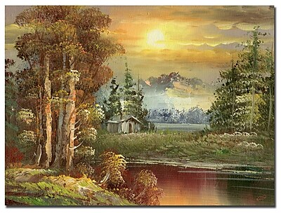 Trademark Fine Art Rio 'Sunset in Yellowstone' Canvas Art 26x32 Inches