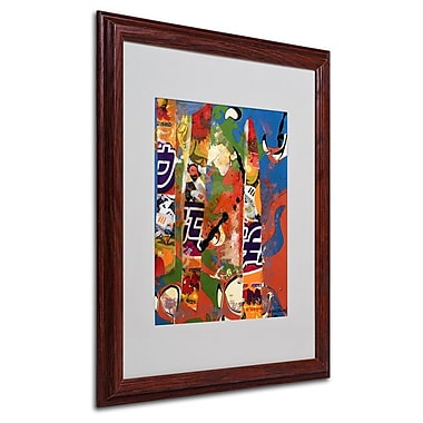 Miguel Paredes 'Japanese I' Matted Framed Art - 16x20 Inches - Wood Frame