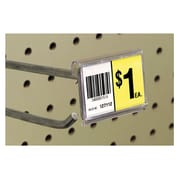 "FFR Merchandising® Data Strip® Label Holder For Metal Scan Plate, 1.25"" x 2"", Clear"