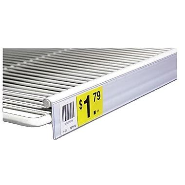FFR Merchandising - Porte-étiquette pour tablette à grillage double, 1,25 x 29,5 po, transparent, 7/pqt (4405757103)