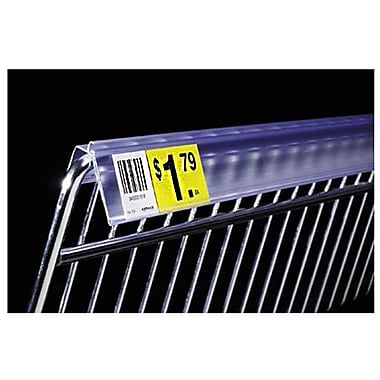FFR Merchandising Extra-Duty Data Strip Label Holder For Wire Basket, 2