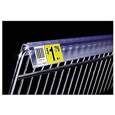 FFR Merchandising - Porte-étiquette robuste Data Strip pour panier en treillis métal., 2 po, transparent, 82/pqt (4400483902)