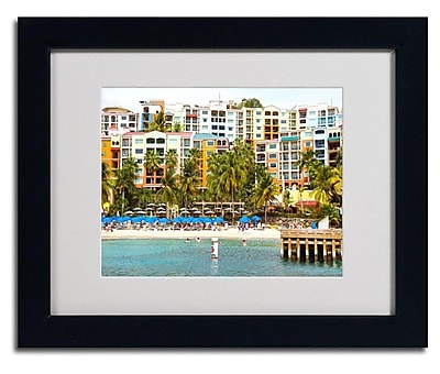 Trademark Fine Art CATeyes 'Virgin Islands 8' Matted Art Black Frame 11x14 Inches