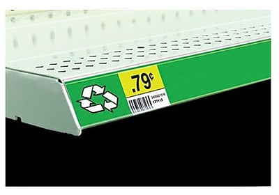 "FFR Merchandising® Economy Self-Adhesive Data Strip® Label Holder, 2"" x 47 7/8"", Clear, 4/Pack"