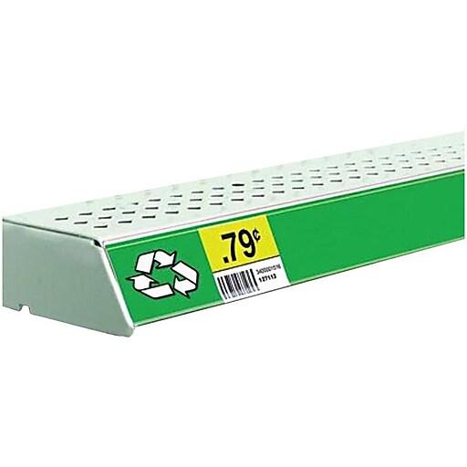 "FFR Merchandising® Economy Self-Adhesive Data Strip® Label Holder, 1-1/4"" x 47-7/8"", Black, 7/Pack"