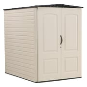 Rubbermaid® 159 cu ft Large Vertical Storage Shed, Sandalwood/Onyx