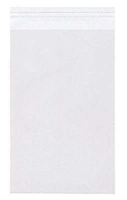 JAM Paper® Cello Sleeves with Self Adhesive Closure, 13 7/16 x 19 1/4, Clear, 1000/carton (13.519.25CELLOB)