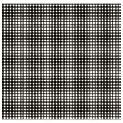 Inspired By Color™ Black & White Gingham Wallpaper, Off White With Black