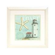 """Diamond Decor """"Beach House #2"""" Framed Print Art, 19"""" x 19"""""""