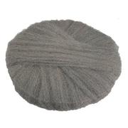 """Global Material 20"""" #0 Radial Steel Wool Floor Pad, Gray"""