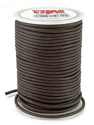 Tandy Leather Factory 5050-02 Brown Spool Round Leather Lace, 25 yd.