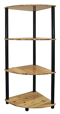 Ore International® Home Decorators Collection 4-Tier Corner Bookshelf, Light Pine
