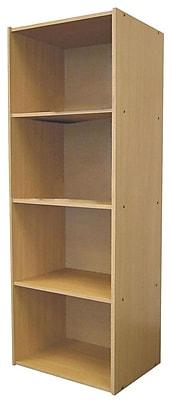 Ore International® Home Decorators Collection 4-Shelf MDF Open Bookcase, Natural