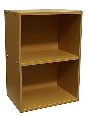 Ore International® Home Decorators Collection 2-Shelf MDF Open Bookcase, Natural