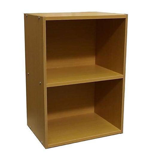 Ore International Home Decorators Collection 2 Shelf Mdf Open Bookcase Natural Staples