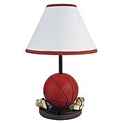 "Ore International® 15"" Ceramic Basketball Table Lamp, Orange"