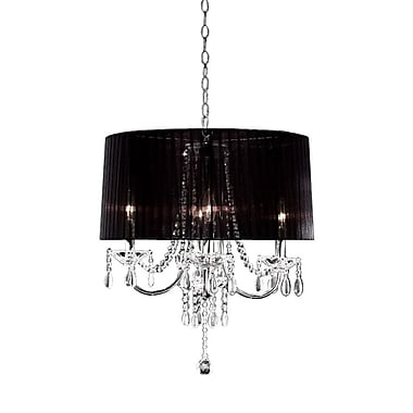"Ore International 40W 15"" Crystal Drop Chandelier"