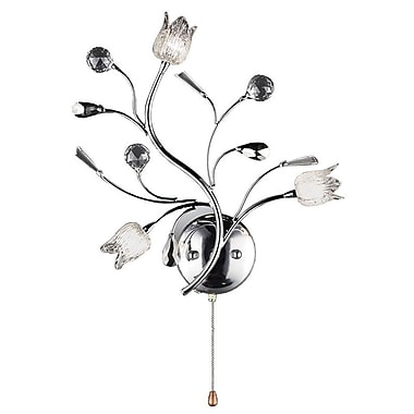 Ore International® Lily Crystal 3 Light Wall Scones, Chrome Finish