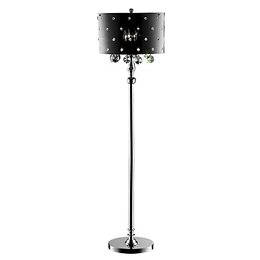 Ore International® 40W Star Crystal Floor Lamp, Black