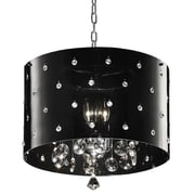 Ore International® K-5120H Incandescent 40 W Star Crystal Chandelier, Black