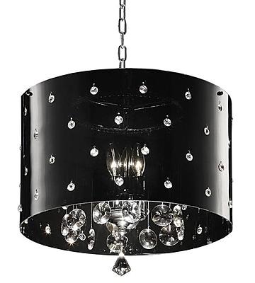 Ore International® K-5120H Incandescent 40 W Star Crystal Chandelier, Black