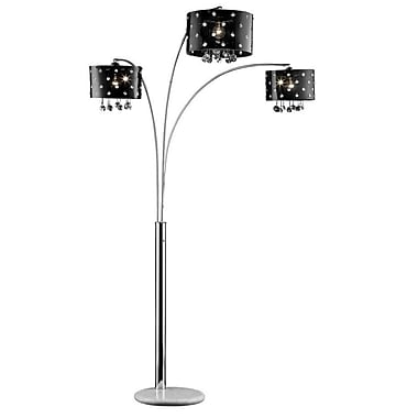 Ore International® 120W Star Crystal Floor Lamp, Black