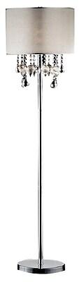 Ore International® 25W Drape Crystal Floor Lamp, Satin Nickel