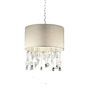 Ore International® K-5125H Incandescent 25 W Drape Crystal Chandelier, Silver