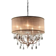Ore International® K-5126H Incandescent 75 W Rosie Crystal Chandelier, Gray/Light Pink
