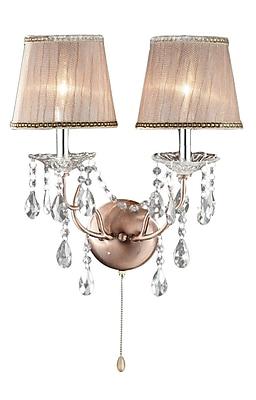 Ore International® Rosie Crystal Wall Scones, Copper Finish