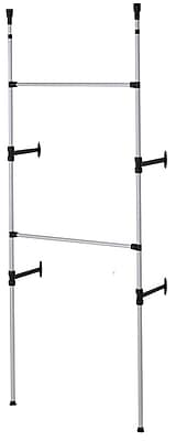 Ore International® Stainless Steel Modern 2 Tier Telescopic Clothes Rack
