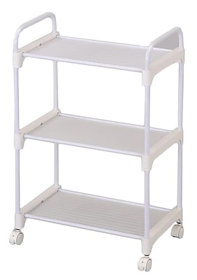 Ore International® 3 Tier Utility Cart, White
